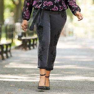 Torrid Premium Boyfriend Embroidered Black Jeans
